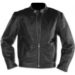 Fitted LEATHER JACKET MAN CUSTOM CHROME