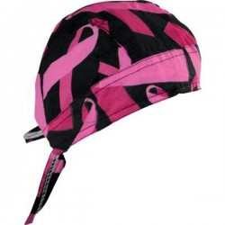 BREAST CANCER BANDANA BLAC / PINK RIBBON FLYDANNA ®