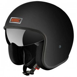 CASCO JET ORIGINE SPRINT NEGRO MATE