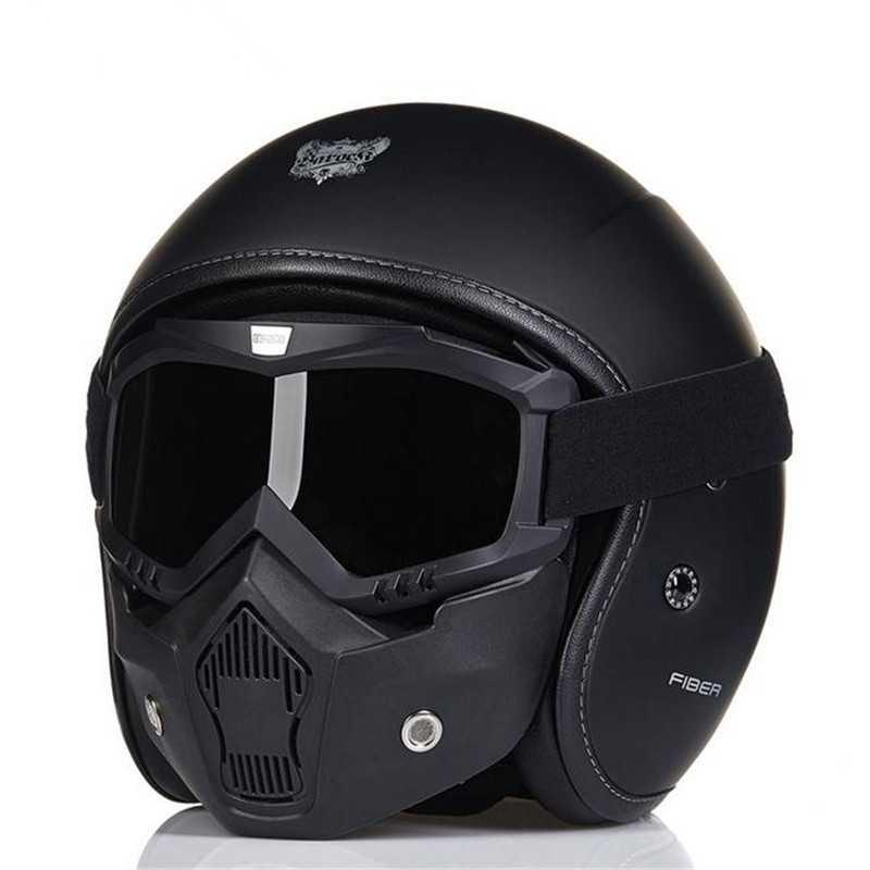 mascara negra para cascos jet spaciobiker. Black Bedroom Furniture Sets. Home Design Ideas