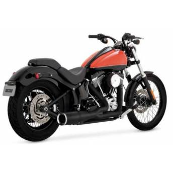 ESCAPE VANCE HINES HI-OUTPUT 2 NEGRO HARLEY SOFTAIL 86-17