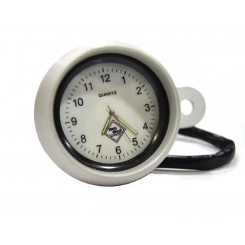 WHITE SPHERE CLOCK SATIN