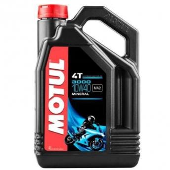ENGINE OIL MINERAL MOTUL 3000 4T 10W-40 4 LITERS