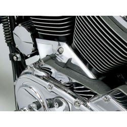 CHROME TRIM CYLINDER BASE COVER TWIN CAM HD
