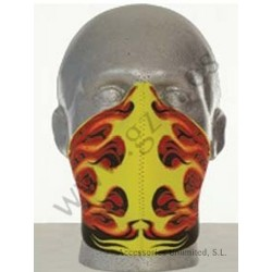 NEOPRENE MASK HOD ROD FLAMES