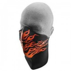 NEOPRENE MASK NECK WITH ORANGE FLAMES