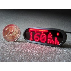 MINI SPEEDO BLACK LED motoscope