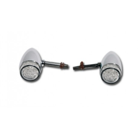BULLET REAR TURN SIGNAL KIT POLISHED LEDs APPROVED