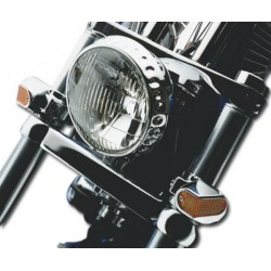 SUPPORT WITH SIDE FORK POSITION LIGHTS CHROME