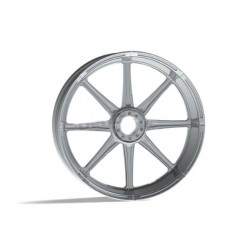 "SOLID CHROME WHEEL REVTECH VELOCITY 23 ""x 3.50"""