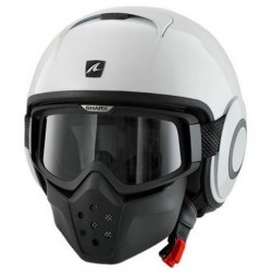 CASCO JET SHARK DRAK BLANCO BRILLO