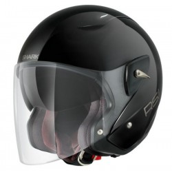 CASCO SHARK RSJ ST NEGRO BRILLO