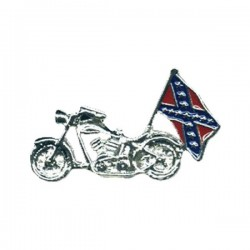PIN WITH REBEL MOTORCYCLE