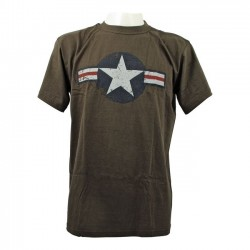 CAMISETA FOSTEX AIR FORCE STARS BARS GREEN