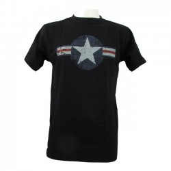 CAMISETA FOSTEX AIR FORCE STARS BARS BLACK