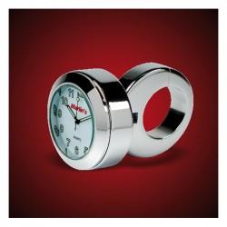 "MOUNTING BRACKET CLOCK CHROME HANDLEBAR 1 ""-7/8"" WHITE"