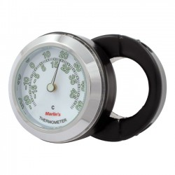 "MOUNT THERMOMETER BLACK HANDLE SUPPORT 1 ""-7/8"" WHITE"