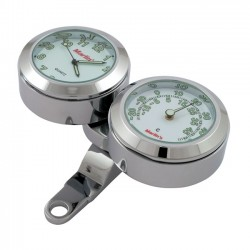 CLOCK AND THERMOMETER WHITE MOUNTING HANDLES brake or clutch