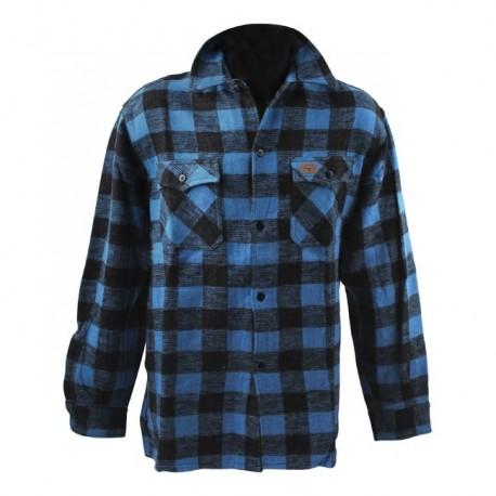 camisa-fostex-checkered-blue