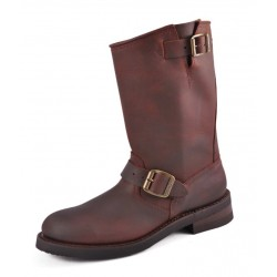 BOTAS BIKER PIEL CRAZY OLD MARRON MOD 1570-6