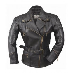 CHAQUETA LADY PIEL ALEX ORIGINALS BIANCA NEGRA