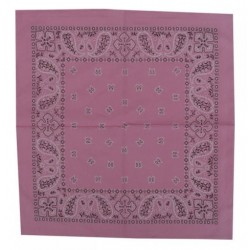 BANDANA COTTON PINK PAISLEY II (OUTLET)