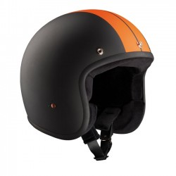 RACE BANDIT HELMET JET BLACK / ORANGE ECE