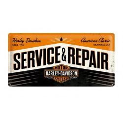 PLACA GARAGE HARLEY DAVIDSON SERVICE