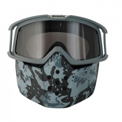 KIT RAW mask and goggles CAMO SHARK