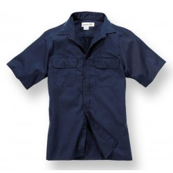 SHORT SLEEVE WORK SHIRT NAVY CARHATT