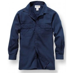 NAVY TWILL WORK SHIRT LONG SLEEVE CARHATT