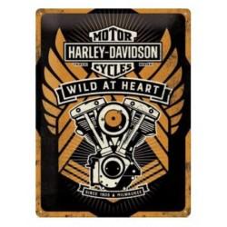 GARAGE PLATE HARLEY DAVIDSON WILD
