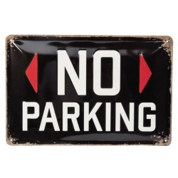 NO PARKING PLATE GARAGE