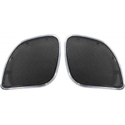 HOGTUNES FRONT REPLACEMENT CHROME SPEAKER GRILLS FOR HARLEY DAVIDSON FLTRX/FLTRXS 2015