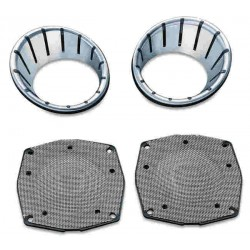 LED BEZELS FOR REAR SPEAKER FOR HARLEY DAVIDSON FLHTCU 96-13 HARLEY DAVIDSON FLHTCU 98-13
