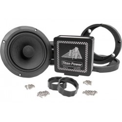 "TITAN 180 WATT AMP AND 7.1"" BIG SPEAKER PACKAGE SOUND KIT FOR HARLEY DAVIDSON FLTR 98-13"