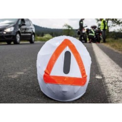 HELMET COVER warning triangle