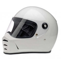 BILTWELL INTEGRAL HELMET SPLITTER WHITE BRIGHT