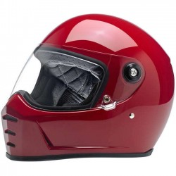 BILTWELL INTEGRAL HELMET SPLITTER BLOOD RED
