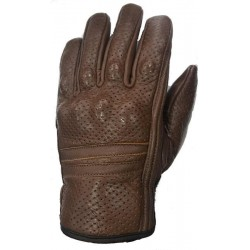 BROWN MICROPERFORATED LEATHER SUMMER GLOVES