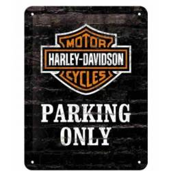 PLACA GARAJE HARLEY DAVIDSON PARKING ONLY