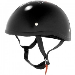 CASCO SKID LID FLAT BLACK CROSS (OUTLET)