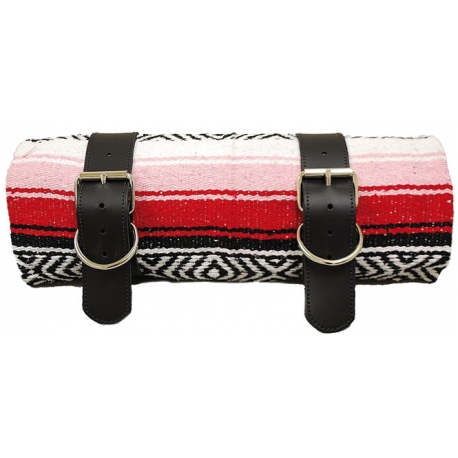 MEXICAN SERAPE ROLL-UP WHITE AND BLACK