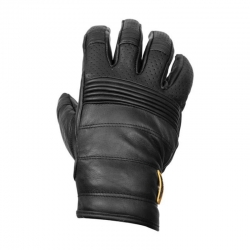 LEATHER COW GLOVE ROEG HANK BLACK