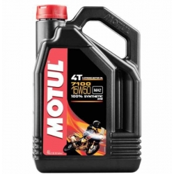 ENGINE OIL MOTUL 7100 SYNTHETIC 4 LITERS SAE 15W-50