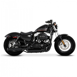 "COLAS DE ESCAPE RINEHART 3"" BLACK TO BLACK HARLEY DAVIDSON SPORTSTER 14-UP"