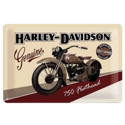 PLACA GARAJE HARLEY DAVIDSON FLATHEAD 750