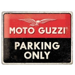 PLACA MOTO-GUZZI PARKING ONLY LOGO