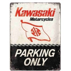 PLACA KAWASAKI PARKING ONLY LOGO