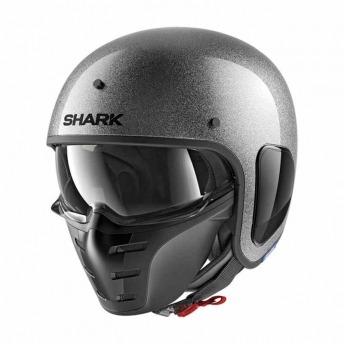 HELMET JET SHARK S-DRAK SILVER BRIGHT